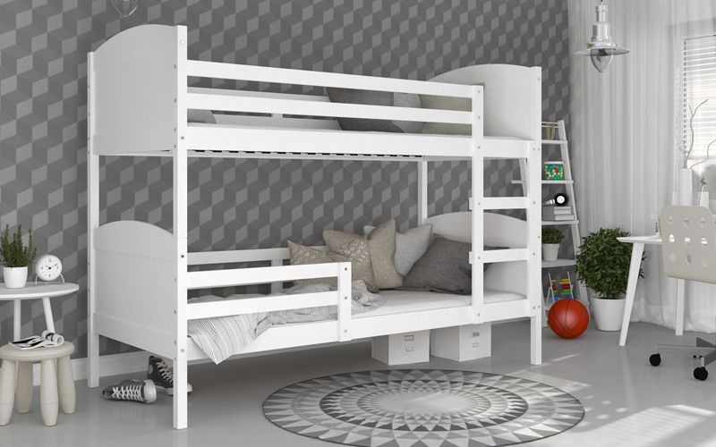 Łóżko piętrowe MATEUSZ COLOR bez szuflady 190x80 + materace zdjęcie 3