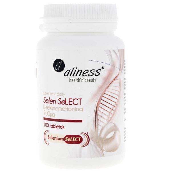 Aliness Selen Select® L-selenometionina 200 µg - 100 tabletek na Arena.pl