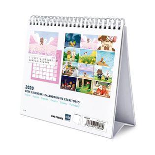 Line Friends - Kalendarz do planowania codziennego (20 x 17 cm)