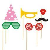 Karteczki na patyczku okulary akcesoria na Party