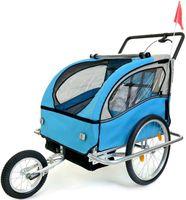 Przyczepka rowerowa z amortyzatorem 2-osobowa +JOGGER niebieska