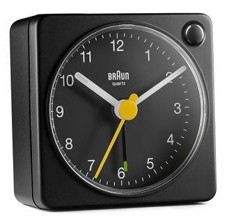 Braun BC02B Budzik analogowy, zasilany bateryjnie, alarm, drzemka, podświetlenie