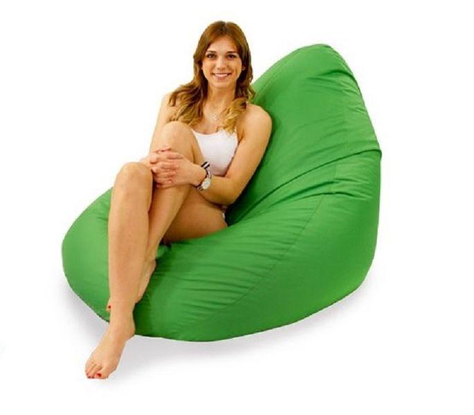 Zielony nowoczesny Fotel ogrodowy pufa leżanka sako do ogrodu zdjęcie 3