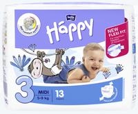 Bella Baby  Pieluszki Jednorazowe Happy- 3 Midi 5-9 Kg - 13 Sztuk