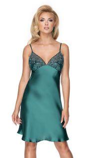 Koszulka nocna Emerald II (satyna), rozm. M