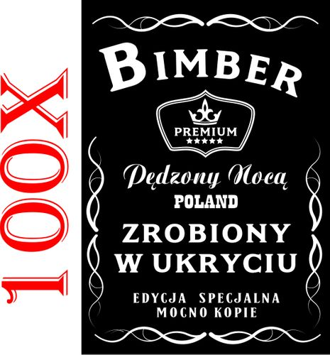 100 ETYKIETY NA BIMBER wódkę naklejki alkohol na Arena.pl