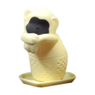 Zaparzacz do herbaty - Małpa - zmienia kolor pod wpływem temperatury Bananowy