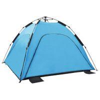 Namiot Plażowy Typu Pop-Up, 220X220X160 Cm, Niebieski