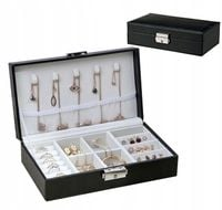 Elegancka szkatułka organizer na biżuterię czarny