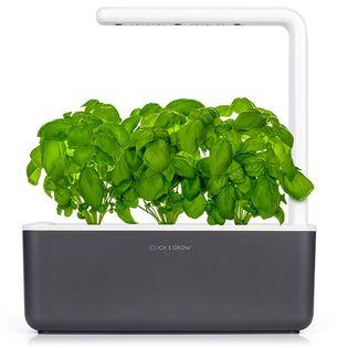 Click & Grow Smart Garden 3 grafitowy - zielnik, ogród domowy z lampą LED