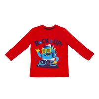 PEPCO T-shirt chłopięcy monsterek 122 Czerwony