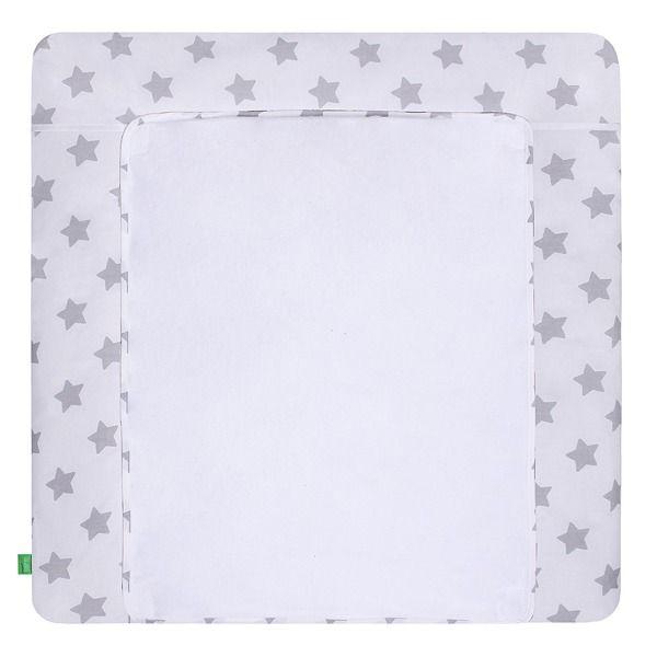 Lulando Mata na przewijak, Szary-Biały w Szare Gwiazdki, 75x75 cm zdjęcie 1