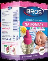 Bros Płyn Owadobójczy Do Elektrofumigatora Na Komary - Dla Dzieci Od 1 Roku Życia- 40 Ml  (60 Nocy)
