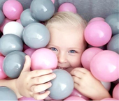 suchy basen dla dzieci z piłeczkami 90x40 okrągły - szary ballpool zdjęcie 3