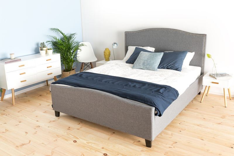 łóżko Do Sypialni Knapper 160x200 Szare