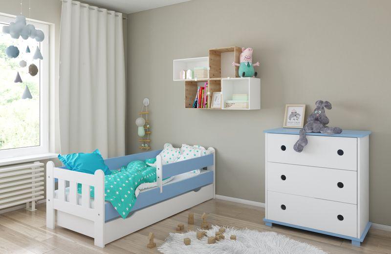 Łóżko STAŚ 140 x 70 z szufladą + barierka ochronna + MATERAC GRATIS zdjęcie 10