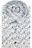 Koszula Męska Big Paris biała w kwiatki SLIM FIT na krótki rękaw K843 M 39 176/182
