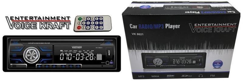Radio samochodowe Voice Kraft VK-8621 BLUE radioodtwarzacz zdjęcie 7