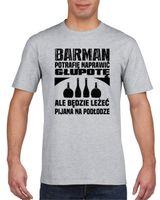 Koszulka męska Dla barmana S Szary