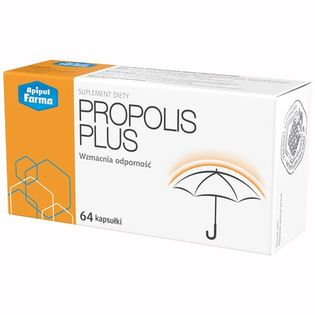 Propolis Plus 64 kapsułki - odporność, witaminy