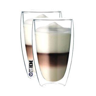 Szklanki z Podwójną Ścianką do Kawy Latte Herbaty 380ml 2 sztuki
