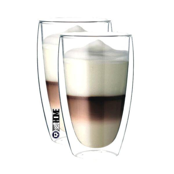 Szklanki Termiczne do Kawy Latte Herbaty 380ml 2 sztuki zdjęcie 1