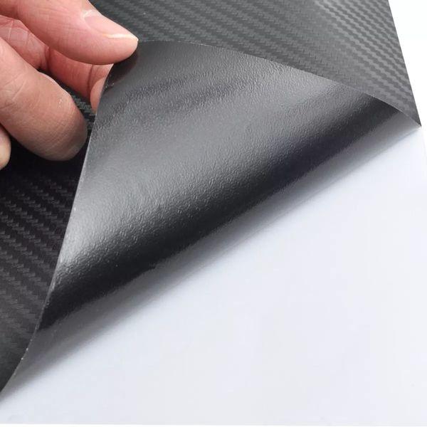 Naklejka samochodowa winyl/carbon 3D Czarna 152 x 200 cm zdjęcie 6