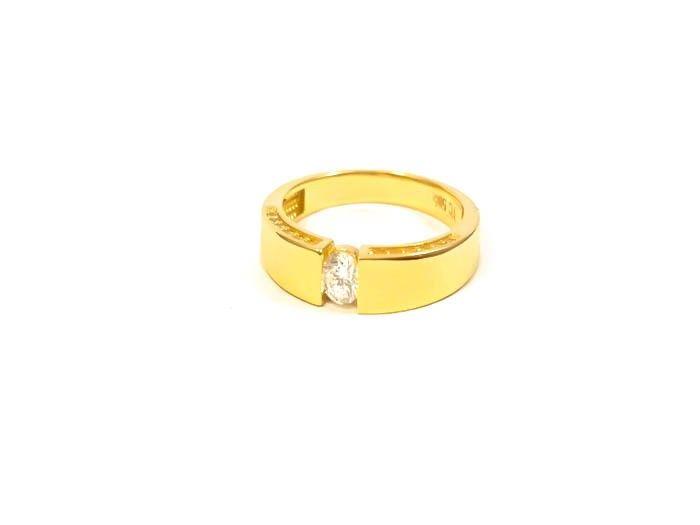 a6f45b218111fa Złoty PIĘKNY Pierścionek 585 IDEALNE ZAĘCZYNY r15 zdjęcie 1 ...
