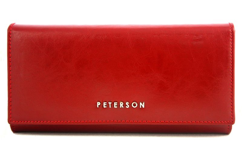 0b77f3bfdad45 Duży czerwony portfel damski