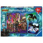 Ravensburger - Jak Wytresować Smoka 3 Puzzle 3x49 elementów 080649