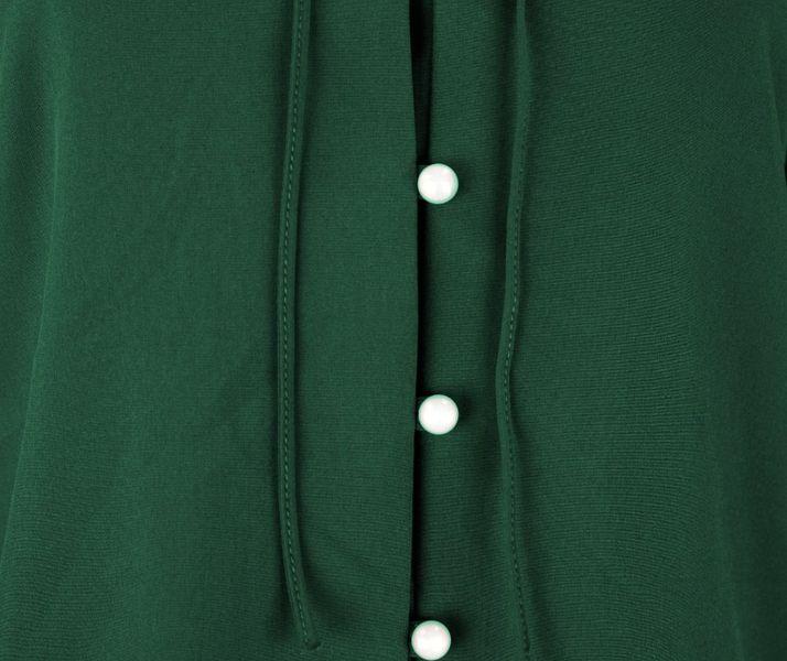 437e971ed Bluzka koszulowa z wiązaniem i perełkami- polski producent- zieleń Rozmiar  - 40 zdjęcie 3