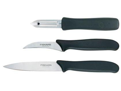 Zestaw 3 noży do obierania warzyw Essential FISKARS