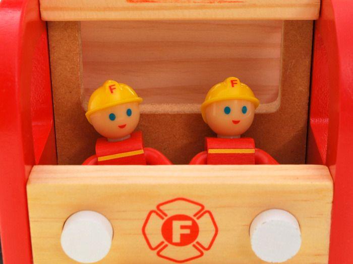 WIELKA Straż Pożarna wóz strażacki DREWNO ZA1809 zdjęcie 8