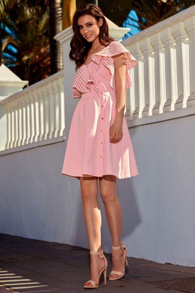 8e768c0b55 Sukienka koktajlowa na jedno ramię - morela Rozmiar - L zdjęcie 1 ...