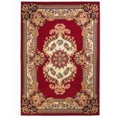 Orientalny dywan, perski wzór, 160 x 230 cm, czerwono-beżowy
