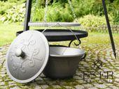 ZESTAW grill palenisko kociołek żeliwny 7l - ES-ER zdjęcie 4