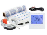 Termostat regulator WiFi 16A + czujnik podłogowy + mata grzewcza 2.5m2 oraz akcesoria do montażu