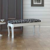 Stylowa ławeczka do toaletki, 2-osobowa, 110cm, czarna