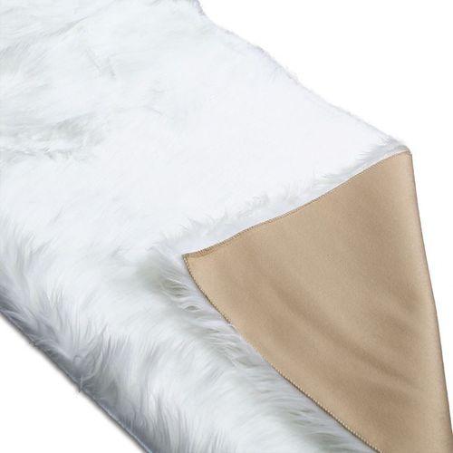 Dywan sztuczna skóra do salonu ekoskóra dywanik do sypialni biały 60x90cm UC19102120W na Arena.pl