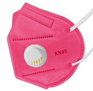 Maseczki antywirusowe ochronne 5 szt Różowe  KN 95 FFP2