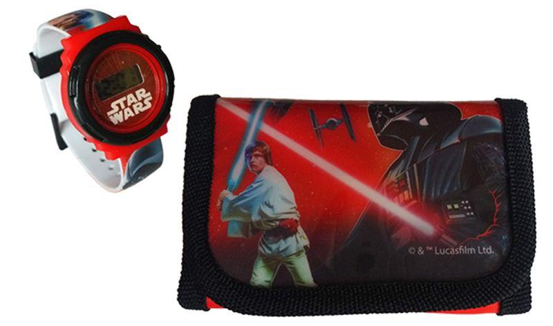 ab2c044f7295b Zestaw zegarek dziecięcy + portfel Star Wars Licencja Disney (SW92276)  zdjęcie 1