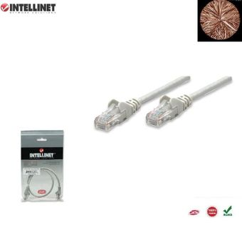 Patch Cord 100% miedź Intellinet Cat.5e UTP, 7,5m, szary ICOC U5EB-075