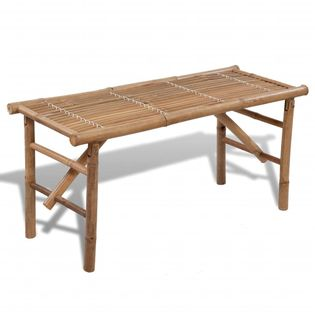 Lumarko Składana ławka ogrodowa, 118 cm, bambusowa!