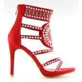 Sandałki gladiatorki czerwone GH-2776 Red r.36