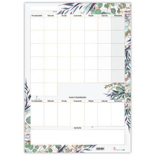 Planer Miesięczny Suchościeralny Floral Z Miejscem Na Notatki