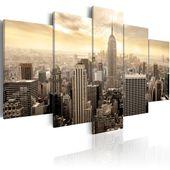 Obraz - Nowy Jork i wschód słońca Rozmiar - 100x50