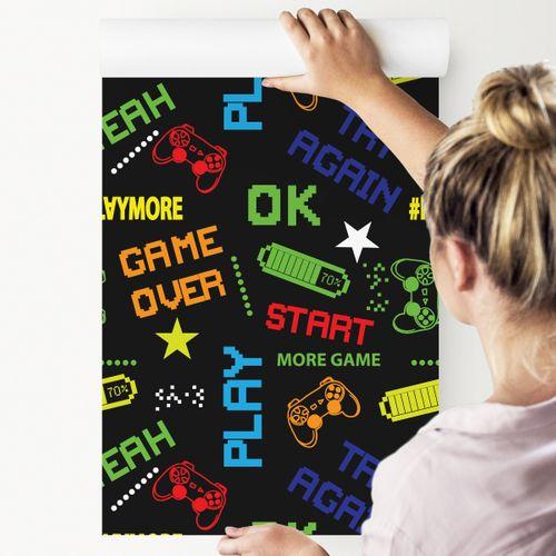 Tapeta młodzieżowa kolorowe napisy piksele gra na Arena.pl