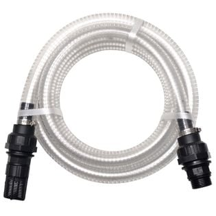 Wąż ssący ze złączkami, 10 m, 22 mm, biały
