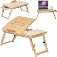 Bambusowy Rozkładany Stolik Pod Laptopa Podstawka 15'' O173
