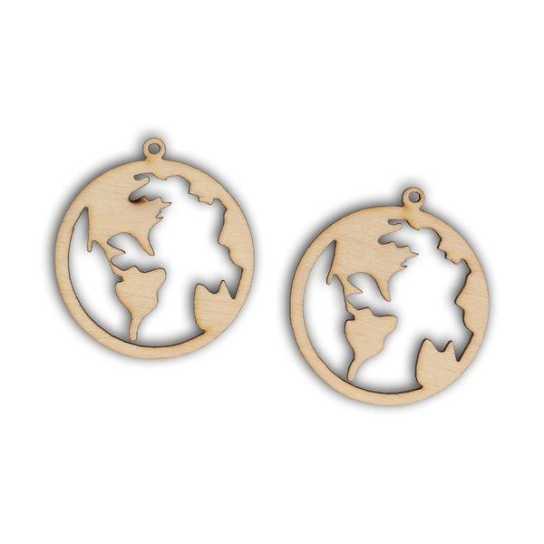 K106 Kolczyki w kształcie kuli ziemskiej zdjęcie 1
